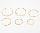 Olivia Small Hoop Earrings 1.5