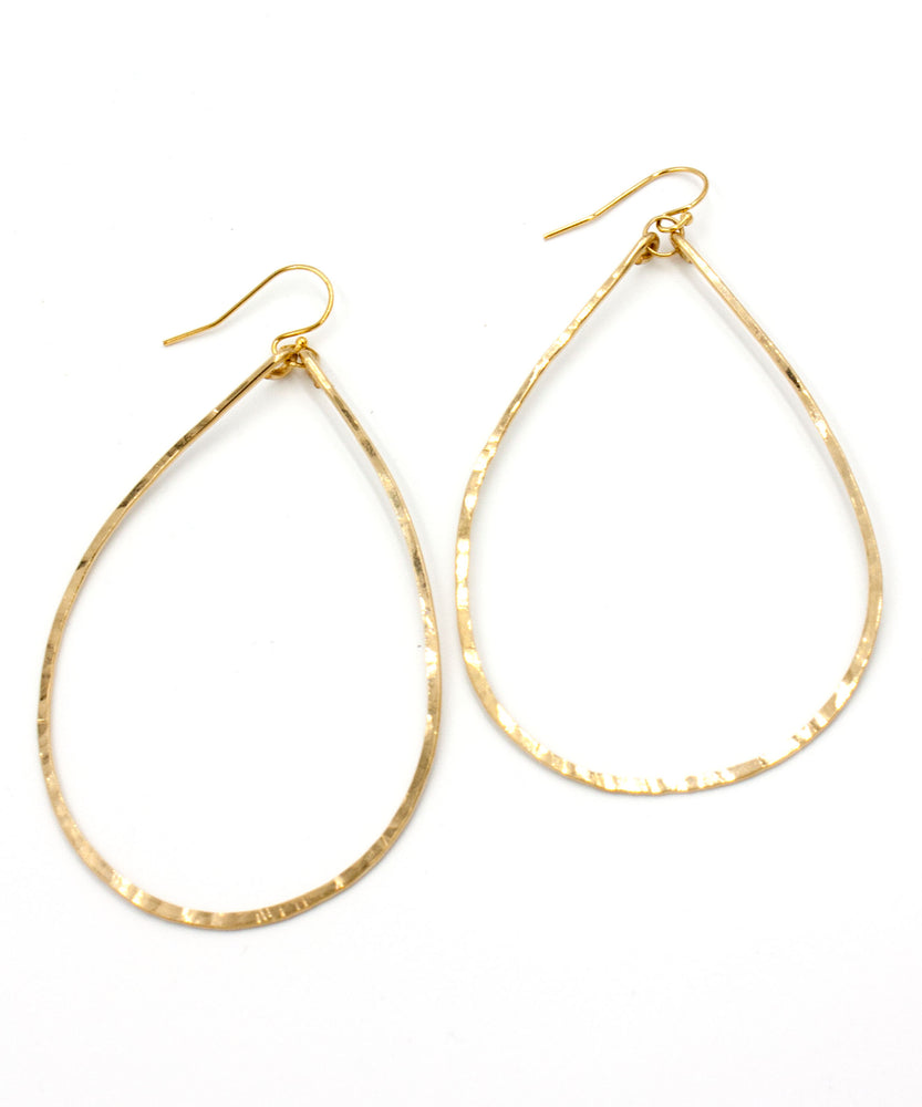 Olivia X-Large Teardrop Earrings 2.75""