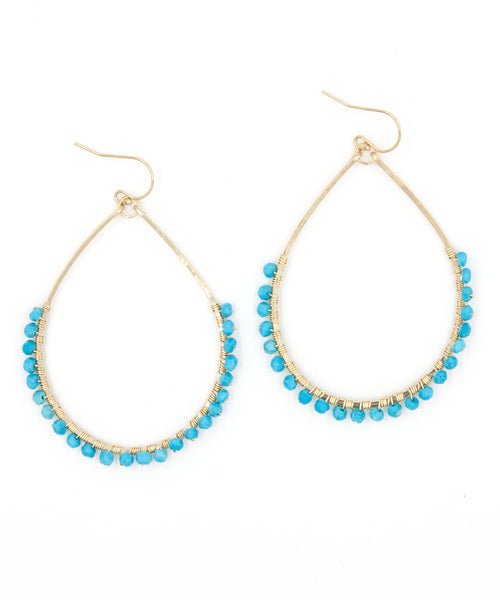 Sirena Teardrop Earrings | Turquoise