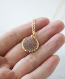 Rey Druzy Pendant Necklace