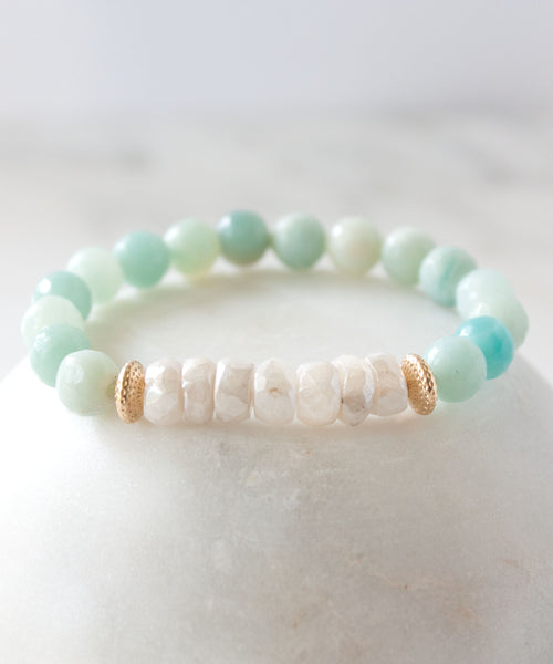 Camille Moonstone Accent Bracelet | Amazonite