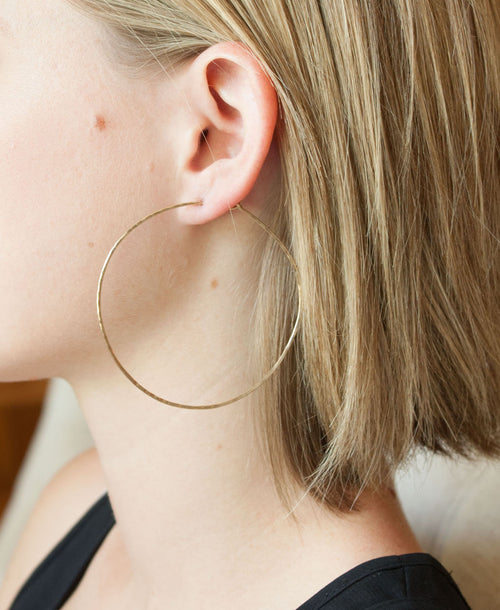 Olivia X-Large Hoop Earrings 2.5""