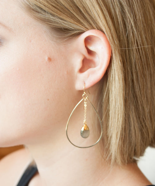 Ada Swing Earrings | Moonstone