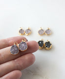 Zara Druzy Drop Threader Earrings