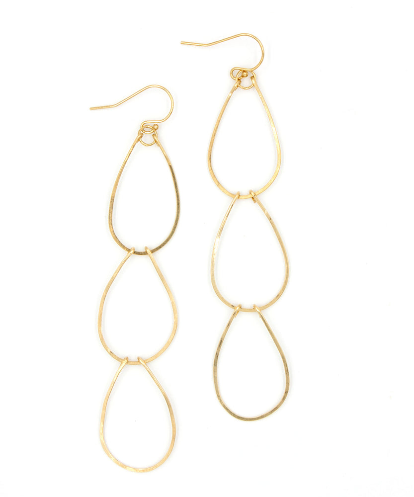 Ada Triple Waterfall Earrings