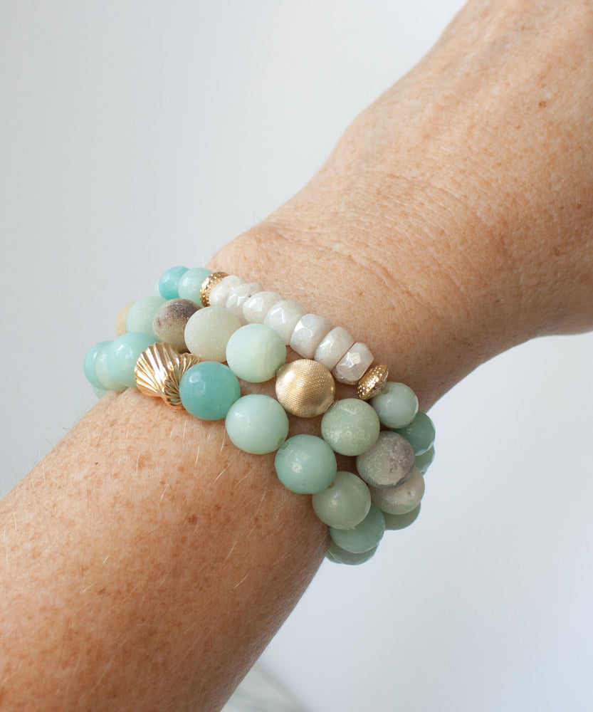 Load image into Gallery viewer, Camille Moonstone Accent Bracelet | Amazonite