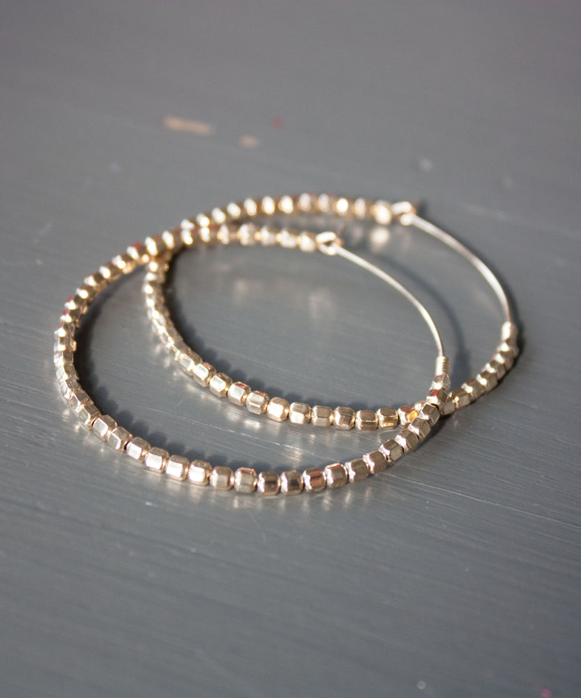 Leia Beaded Hoop Earrings