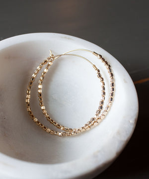 Load image into Gallery viewer, Leia Beaded Hoop Earrings