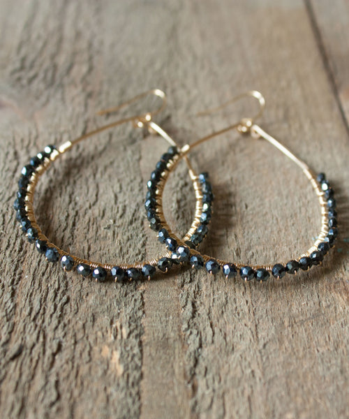 Sirena Teardrop Earrings | Mystic Spinel