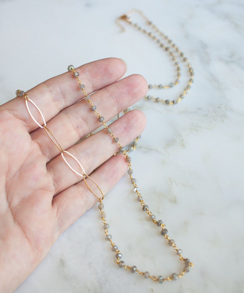 Kate Layering Necklace | Labradorite