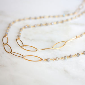 Load image into Gallery viewer, Kate Layering Necklace | Multi Moonstone