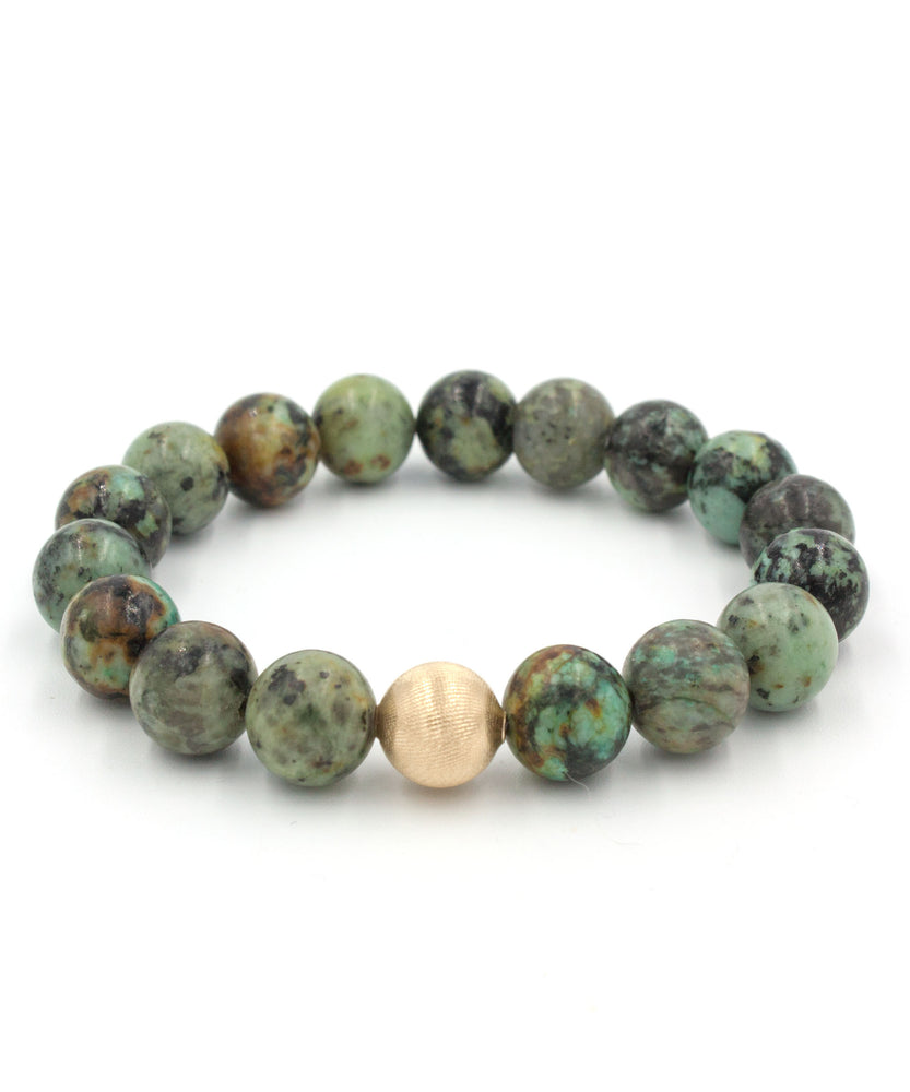 Satin Stack Bracelet | African Turquoise