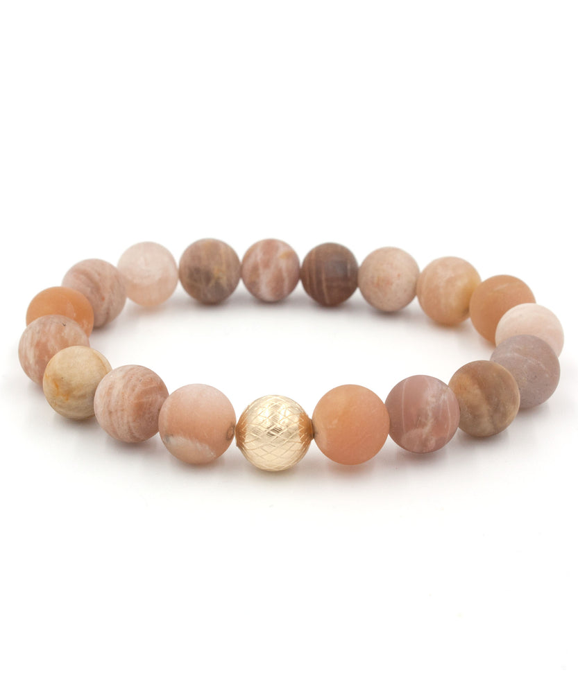 Lattice Stack Bracelet | Matte Sunstone
