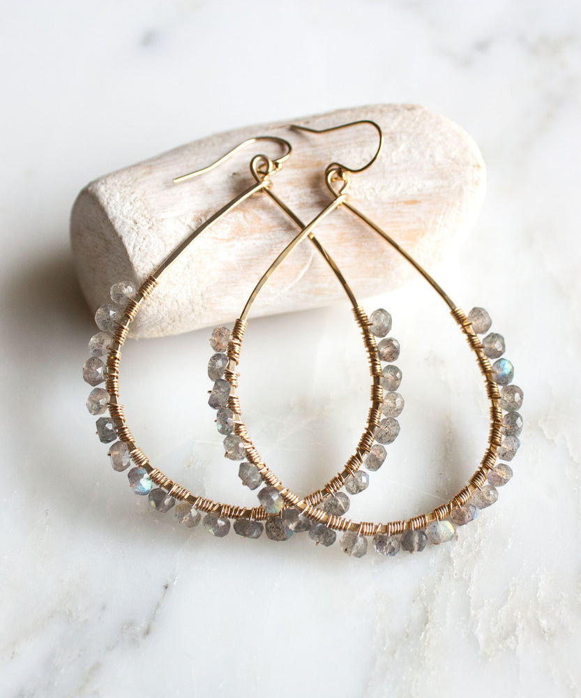 Sirena Teardrop Earrings | Labradorite