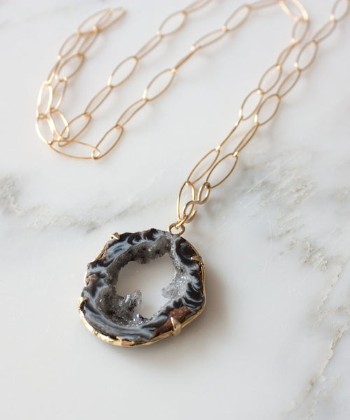Jane Geode Statement Necklace