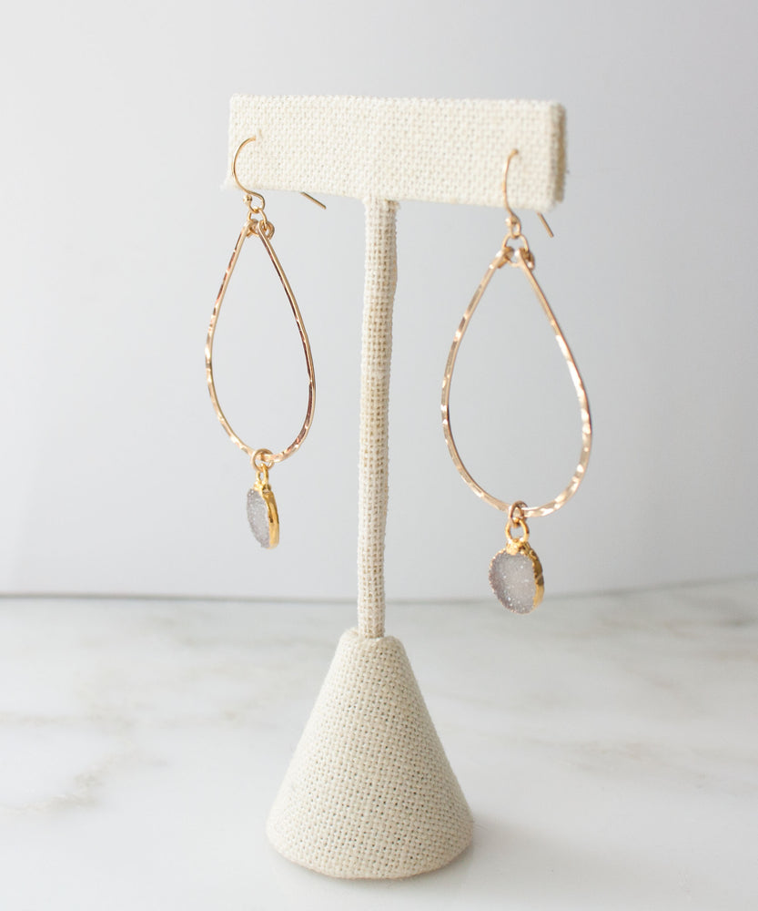 Rey Druzy Teardrop Earrings