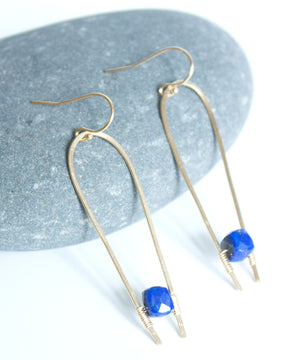 Adele Suspended Drop Earrings | Lapis