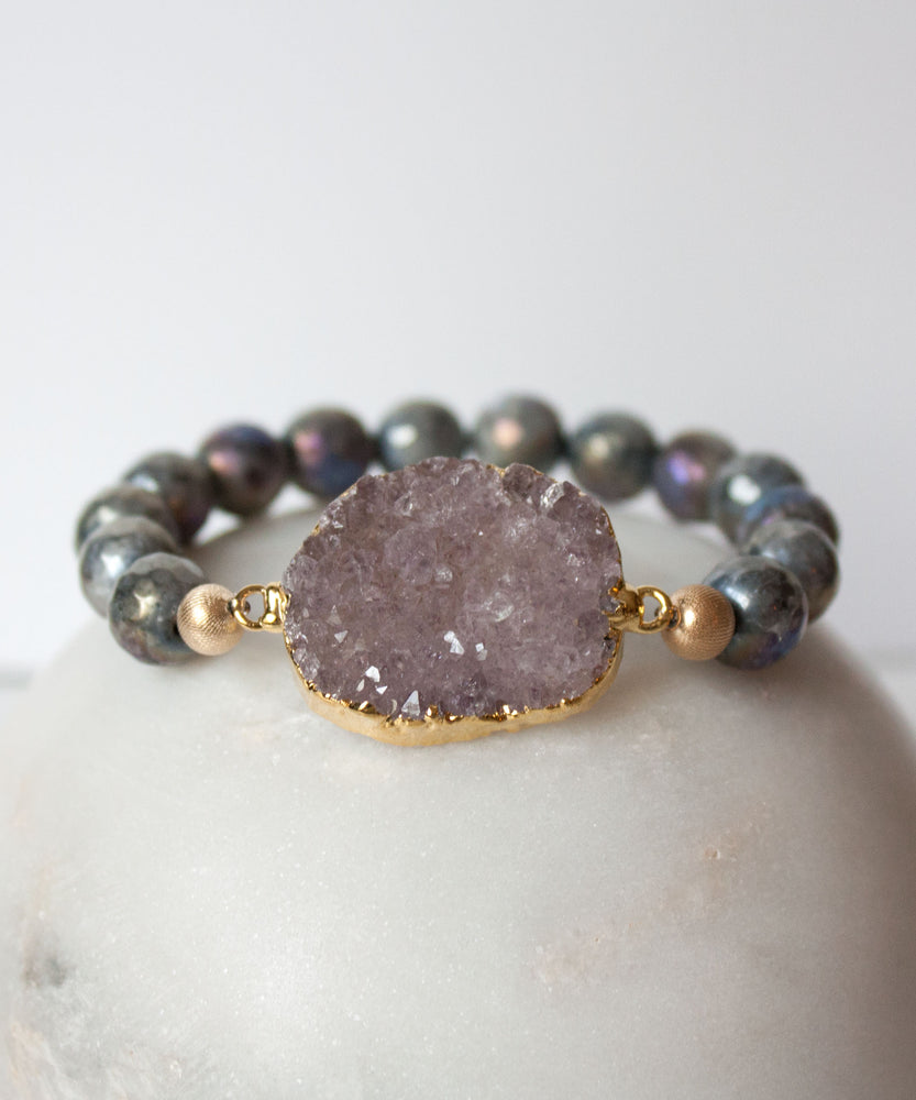 Load image into Gallery viewer, Leia Metallic Bracelet | Labradorite