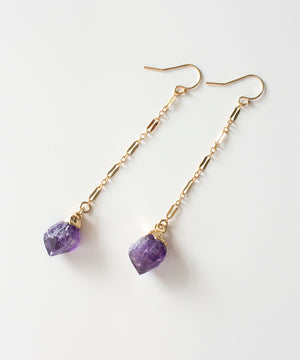 Load image into Gallery viewer, Gia Chain Earrings | Amethyst