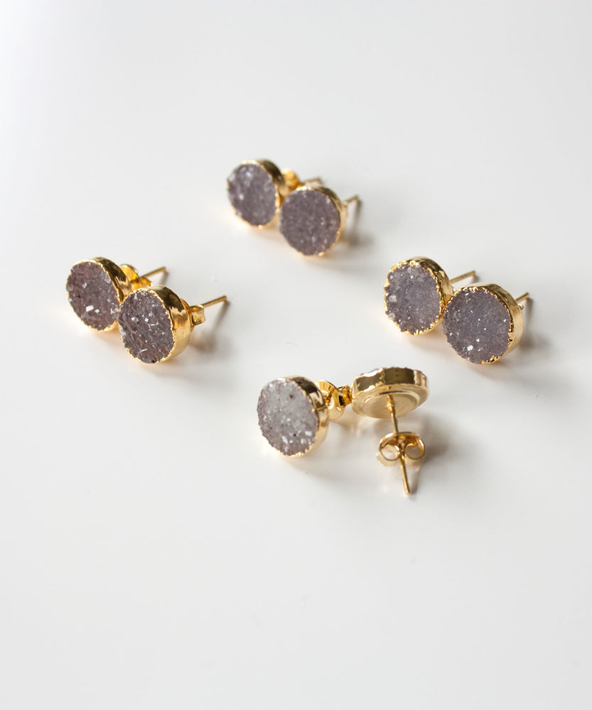 Rey Druzy Stud Earrings