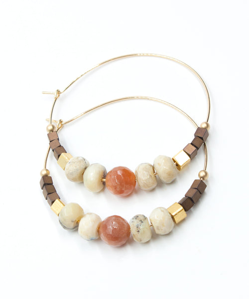 Harper Large Hoop Earrings | Sunstone