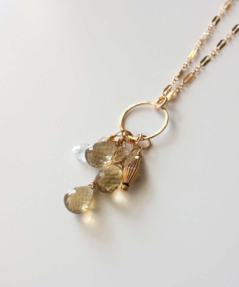Load image into Gallery viewer, Genevieve Gemstone Cascade Necklace