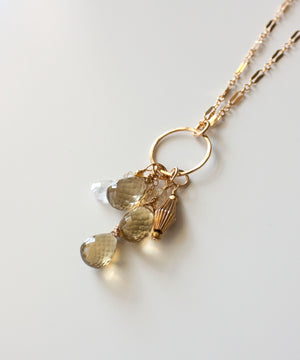 Genevieve Gemstone Cascade Necklace