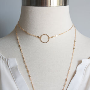 Genevieve Circle Choker Necklace