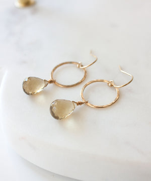 Genevieve Circle Drop Earrings