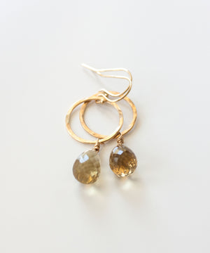 Load image into Gallery viewer, Genevieve Circle Drop Earrings