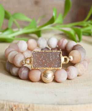 Load image into Gallery viewer, Santa Fe Druzy Stack Bracelet Set