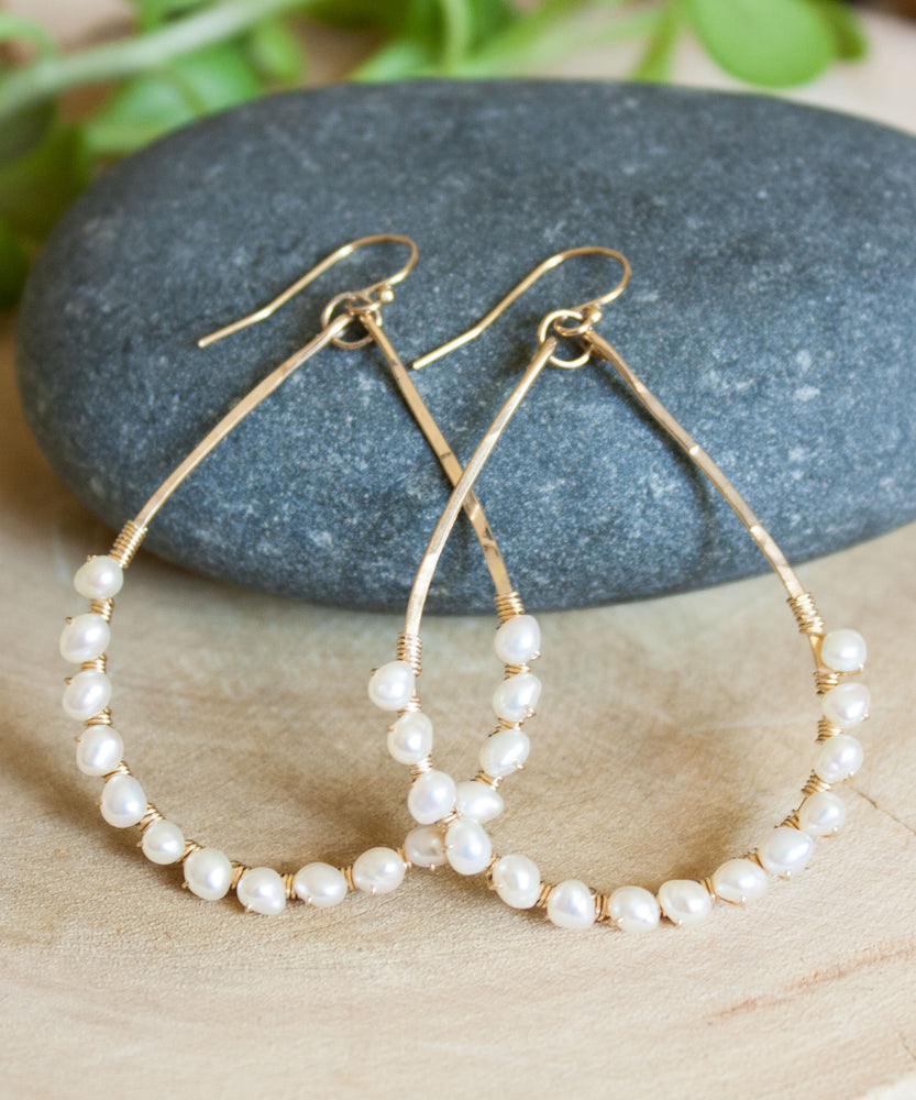 Kaia Pearl Wrap Earrings