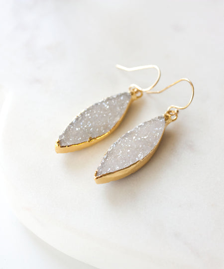 Jane Geode Slice Earrings | Large