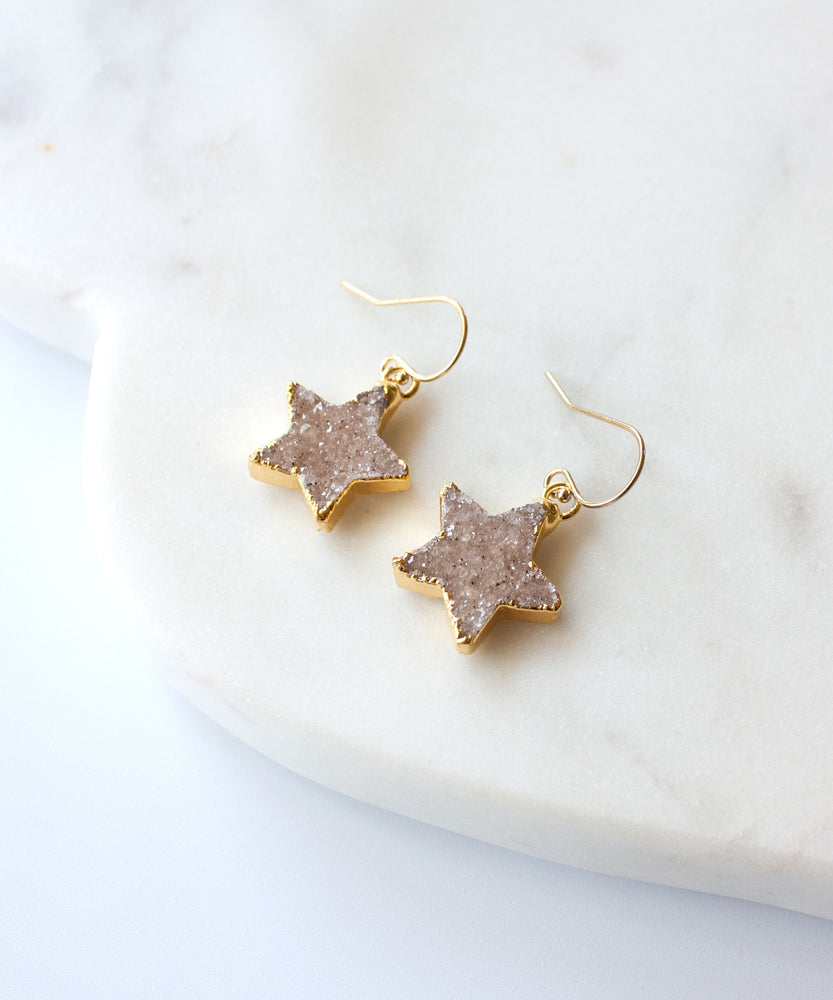 Celeste Star Drop Earrings