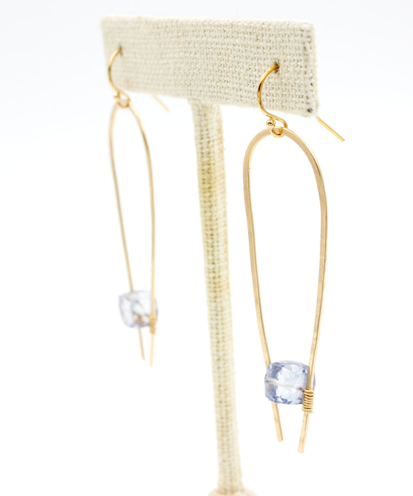 Adele Suspended Drop Earrings | Blue Quartz