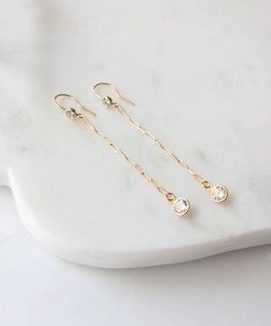 Chloe CZ Chain Drop Earrings