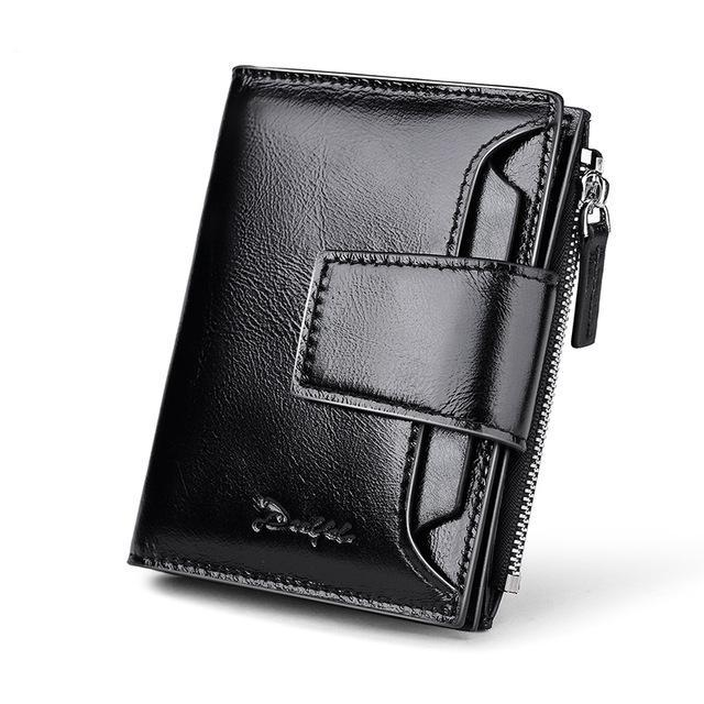 b1f1ace86f76 Genuine Leather Men Wallets Short Coin Purse Small Vintage Wallet Cowhide  Leather