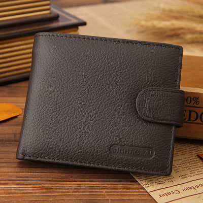 ce8ddec1fd61 Genuine Leather Brand High Quality Design Wallets with Coin Pocket Gift For  Men