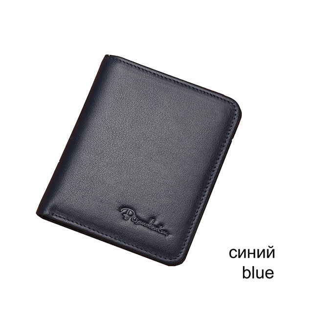 ef94b2883fd5 Black Purse For Men Genuine Leather Men's Wallets Thin Male Wallet ...