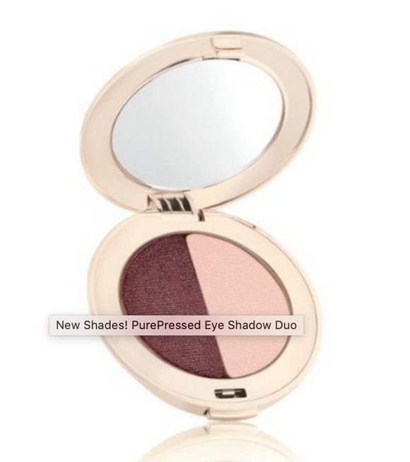 Jane Iredale PurePressed Eye Shadow Duo: Berries & Cream