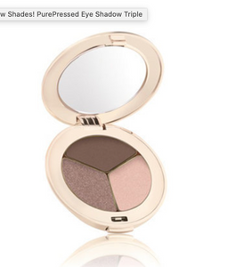 Jane Iredale PurePressed Eye Shadow Triple: Brown Sugar
