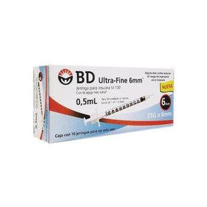 JERINGAS PARA INSULINA ULTRA-FINE 0.5 ML 31G X 6MM