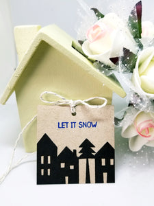 Holiday kraft gift tag