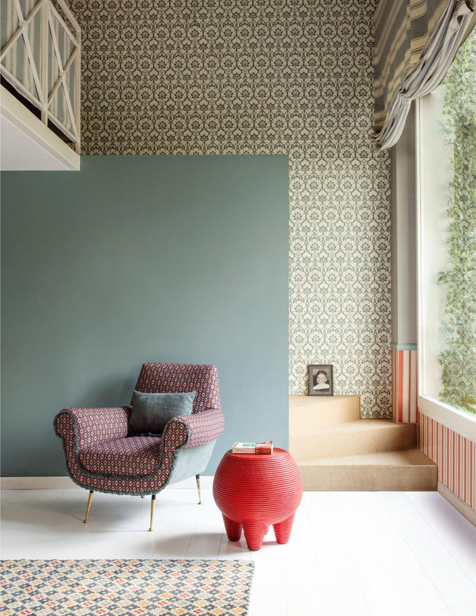 Garden Inspired Prints and Patterns in Modern Vintage Home