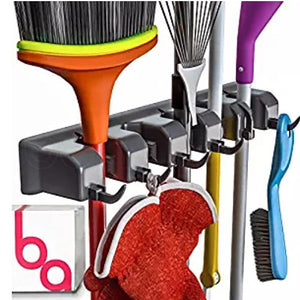Broom Holder and Garden Tool Organizer