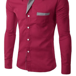 Long Sleeve Shirt Men Slim Design