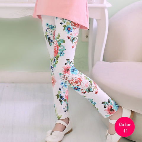 girl pants new arrive printing Flower girls leggings Toddler