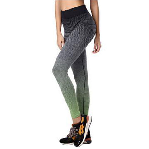 Yoga Pants Women High Waist Strip