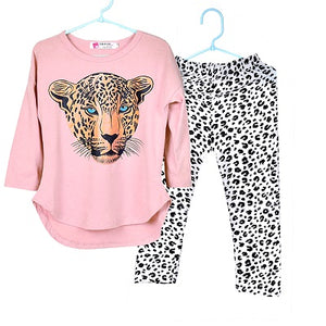 Clothing Sets Baby Girls Kids T Shirt Leopard Legging