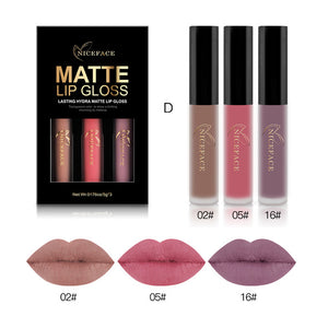 3PCS Liquid Lipstick Set  Matte Lip Stick